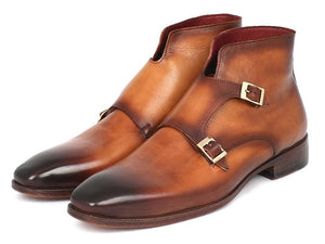 Paul Parkman Double Monkstrap Boots Brown - TieThis Neckwear and Accessories and TieThis.com
