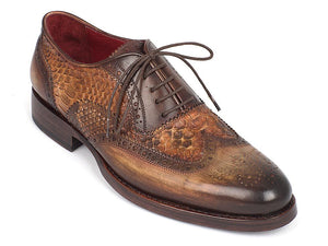 Paul Parkman Python & Brown Calfskin Wingtip - TieThis Neckwear and Accessories and TieThis.com