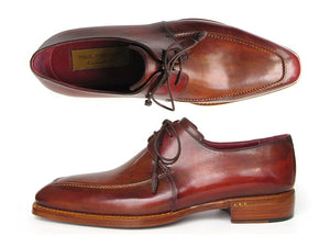 Shoes - Paul Parkman Goodyear Welted Square Toe Apron Derby Shoes Brown (ID#322A7)