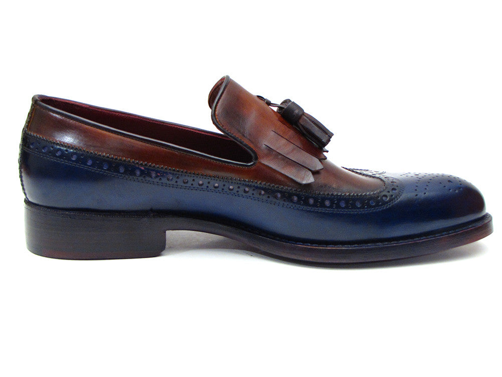 1d5f5f4c04b Paul Parkman Kiltie Tassel Loafer Navy   Light Brown - TieThis Neckwear and  Accessories and TieThis