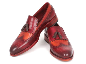 Paul Parkman Kiltie Tassel Loafer Tobacco & Bordeaux - TieThis Neckwear and Accessories and TieThis.com