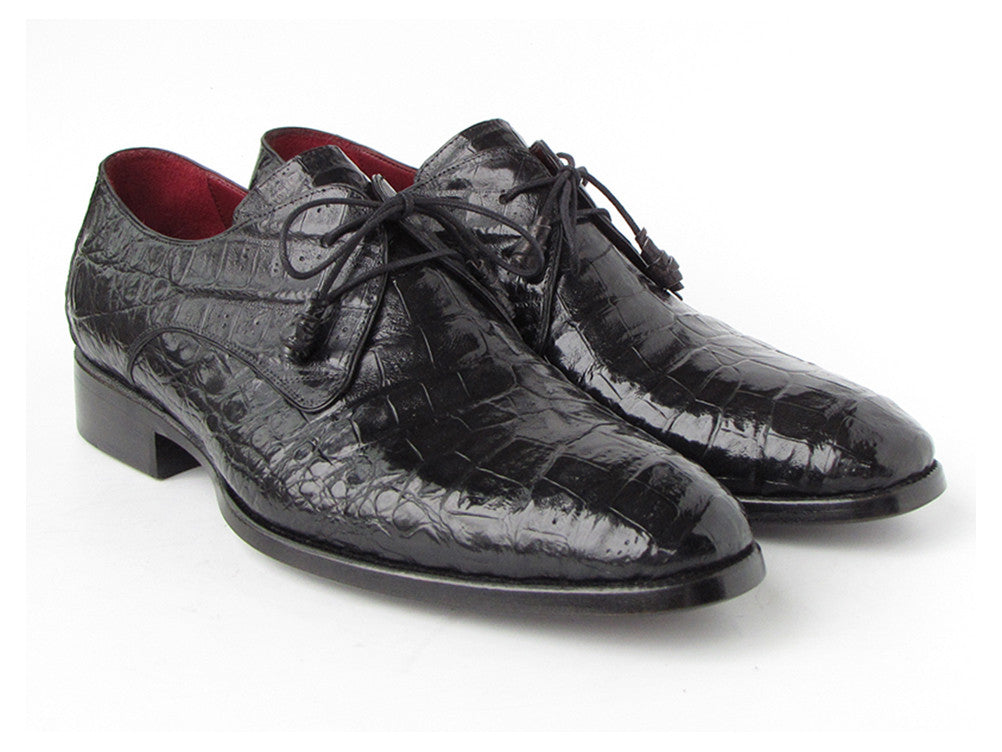 Paul Parkman Black Crocodile Derby - TieThis Neckwear and Accessories and TieThis.com