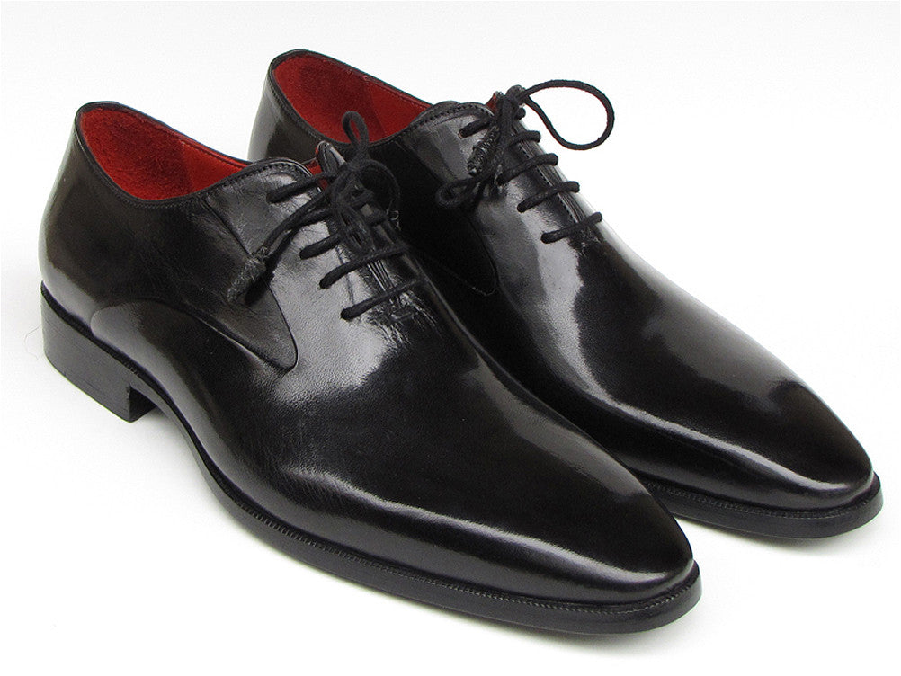 Shoes - Paul Parkman Men's Black Oxfords Leather Upper And Leather Sole (ID#019-BLK)