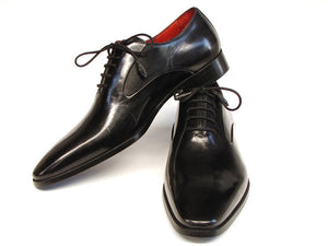 Paul Parkman Black Oxfords Leather Upper - TieThis Neckwear and Accessories and TieThis.com