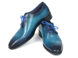 Paul Parkman Blue & Navy Medallion Toe Oxfords - TieThis Neckwear and Accessories and TieThis.com