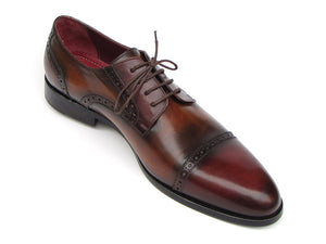 Paul Parkman Bordeaux / Tobacco Derby Leather Upper - TieThis Neckwear and Accessories and TieThis.com