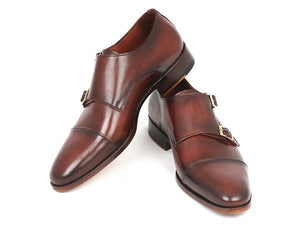 Paul Parkman Cap-Toe Double Monkstraps Brown - TieThis® Neckwear and Accessories