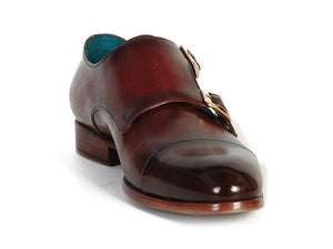 Paul Parkman Cap-Toe Double Monkstraps Dark Brown - TieThis Neckwear and Accessories and TieThis.com