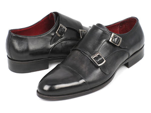 Cap-Toe Double Monkstraps Gray & Black - TieThis® Neckwear and Accessories