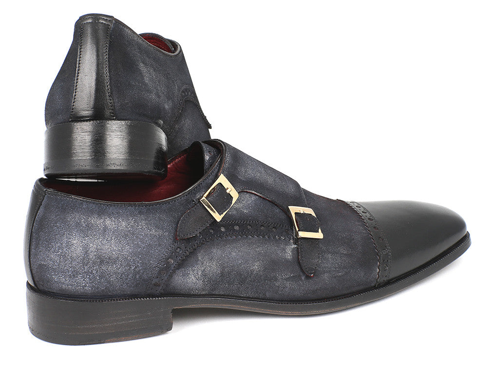 f57cd9dbd568 Paul Parkman Navy Suede Captoe Double Monkstraps - TieThis Neckwear and  Accessories and TieThis.com
