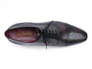 Paul Parkman Captoe Oxfords Bronze & Black - TieThis Neckwear and Accessories and TieThis.com