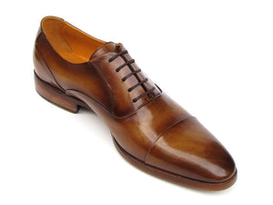 Paul Parkman Brown Leather Captoe Oxfords - TieThis Neckwear and Accessories and TieThis.com