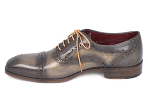 Paul Parkman Captoe Oxfords Gray - TieThis Neckwear and Accessories and TieThis.com