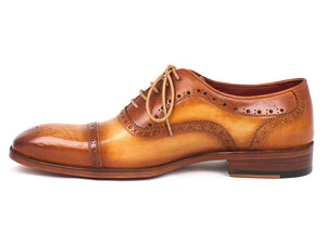 Paul Parkman Tan and Brown Captoe Oxfords - TieThis Neckwear and Accessories and TieThis.com