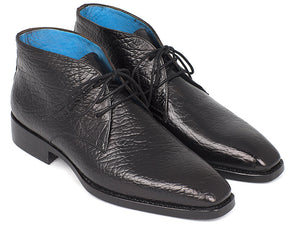 Paul Parkman Chukka Boots Black - TieThis Neckwear and Accessories and TieThis.com
