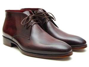 Paul Parkman Chukka Boots Brown & Bordeaux - TieThis® Neckwear and Accessories