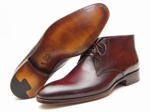 Paul Parkman Chukka Boots Brown & Bordeaux - TieThis Neckwear and Accessories and TieThis.com