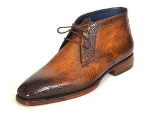 Paul Parkman Chukka Boots Brown & Camel - TieThis® Neckwear and Accessories