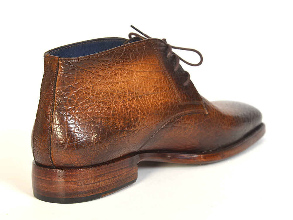 Shoes - Paul Parkman Men's Chukka Boots Brown & Camel (ID#FG55-CML)