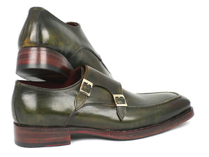 Paul Parkman Green Double Monkstrap - TieThis Neckwear and Accessories and TieThis.com