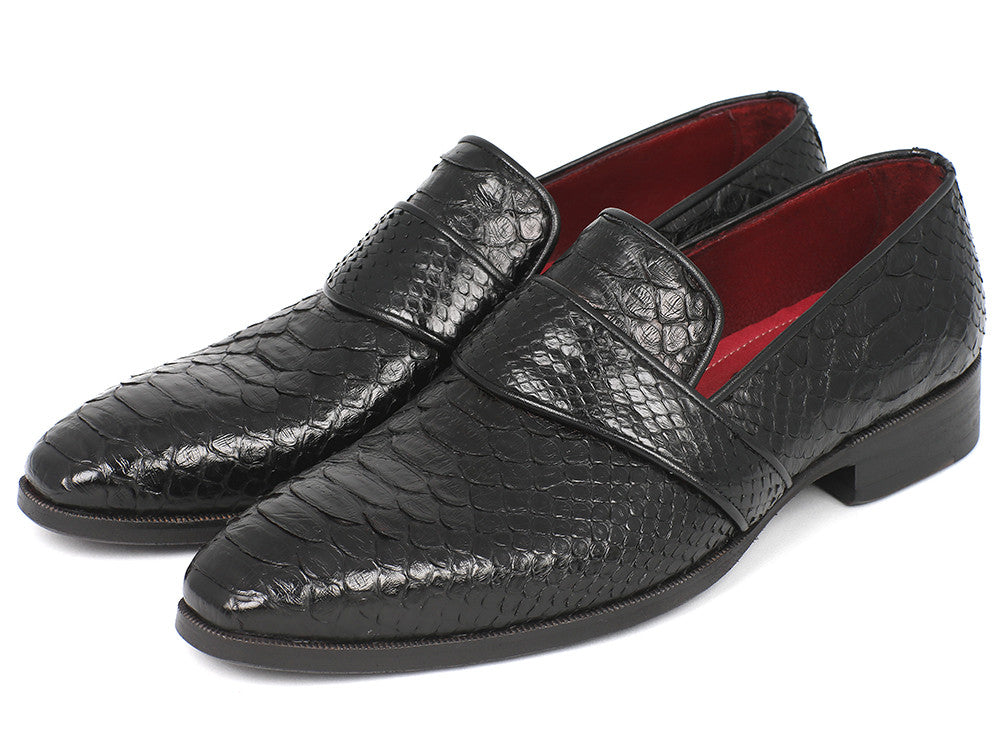 Shoes - Paul Parkman Men's Genuine Python Loafers Black (ID#11BLK62)