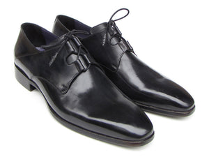 Ghillie Lacing Plain Toe Black Derby - Tie This Menswear and Accessories