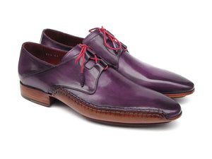 Paul Parkman Purple Ghillie Lacing Side sewn Oxfords - TieThis® Neckwear and Accessories