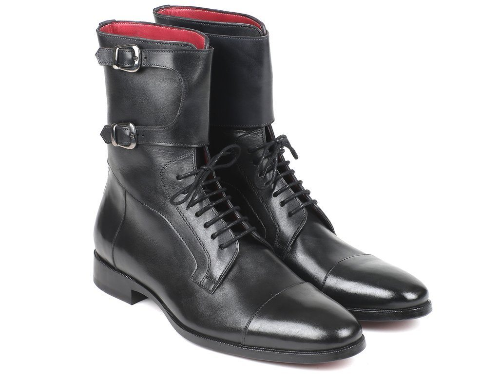 Paul Parkman Men's High Black Calfskin Boots - TieThis Neckwear and Accessories and TieThis.com