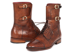 Paul Parkman Men's High Boots Brown Calfskin - TieThis Neckwear and Accessories and TieThis.com