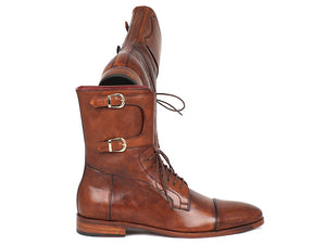 Men's High Boots Brown Calfskin - TieThis® Neckwear and Accessories