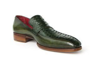 Paul Parkman Green Python & Calfskin Loafer - TieThis Neckwear and Accessories and TieThis.com