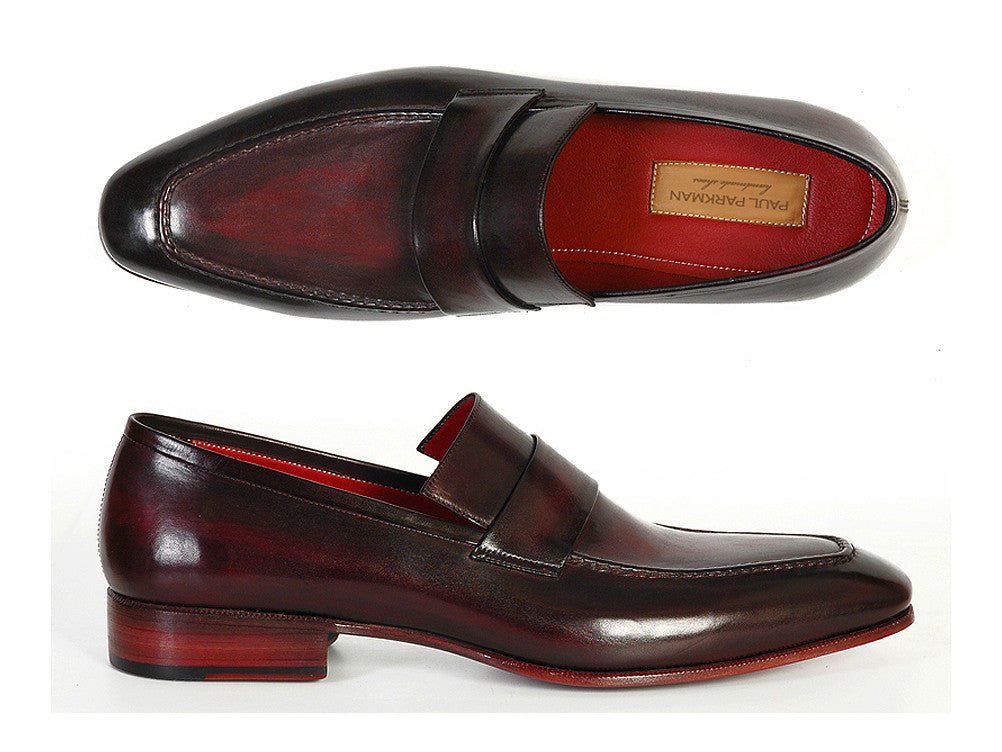 81da4492846 Paul Parkman Purple   Black Leather Loafer - TieThis Neckwear and  Accessories and TieThis.com
