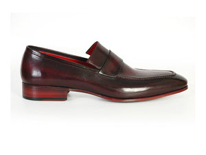 Paul Parkman Purple & Black Leather Loafer - TieThis Neckwear and Accessories and TieThis.com