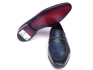 Paul Parkman Navy Leather Loafer - TieThis® Neckwear and Accessories