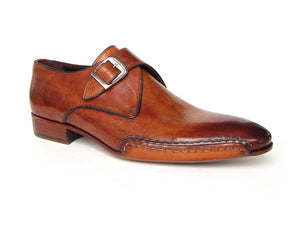 Monkstrap Side Handsewn Twisted Leather Sole Light Brown - TieThis® Neckwear and Accessories