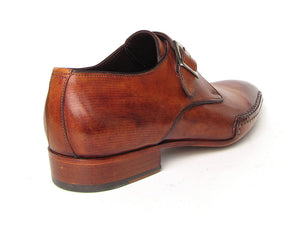 Paul Parkman Monkstrap Side Handsewn Twisted Leather Sole Light Brown - TieThis Neckwear and Accessories and TieThis.com