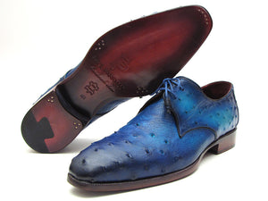 Paul Parkman Ocean Blue Ostrich Derby - TieThis Neckwear and Accessories and TieThis.com