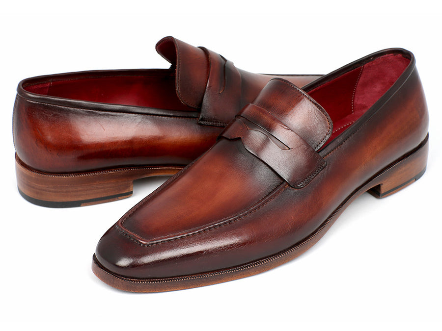 1508b14b4fb Paul Parkman Penny Loafer Bordeaux and Brown Calfskin - TieThis Neckwear  and Accessories and TieThis.