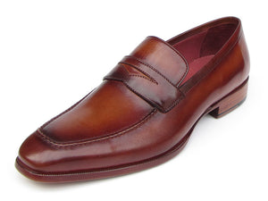 Paul Parkman Penny Loafer Light Brown & Bordeaux - TieThis Neckwear and Accessories and TieThis.com