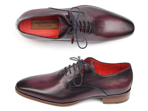 Shoes - Paul Parkman Men's Plain Toe Oxfords Purple Shoes (ID#019-PURP)