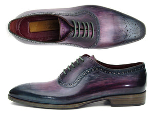 Paul Parkman Purple & Navy Medallion Toe Oxfords - TieThis® Neckwear and Accessories