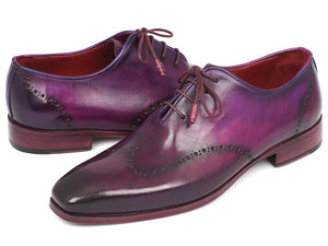 Paul Parkman Purple Wingtip Oxfords - TieThis Neckwear and Accessories and TieThis.com