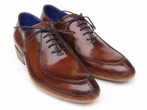 Paul Parkman Side Handsewn Split-toe Brown Oxfords - TieThis® Neckwear and Accessories