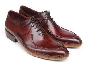 Paul Parkman Side Handsewn Split-toe Burgundy Oxfords - TieThis® Neckwear and Accessories