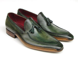 Paul Parkman Side Handsewn Tassel Green Loafer - TieThis® Neckwear and Accessories