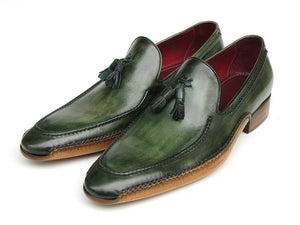 Paul Parkman Side Handsewn Tassel Green Loafer - TieThis Neckwear and Accessories and TieThis.com