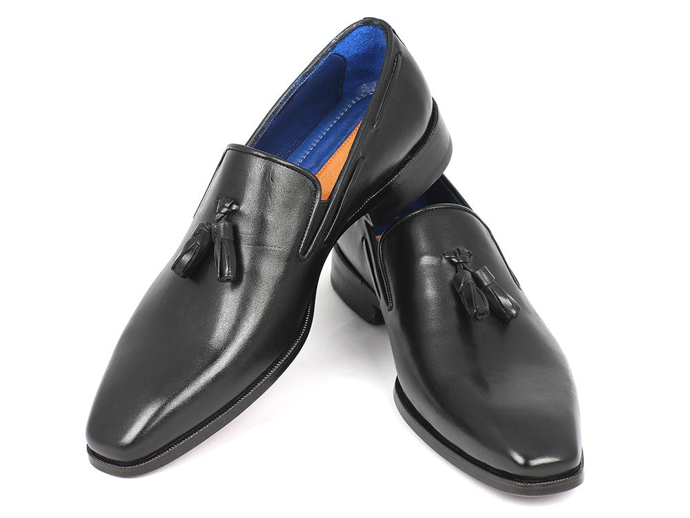 Shoes - Paul Parkman Men's Tassel Loafer Black Leather Upper & Leather Sole (ID#5141-BLK)