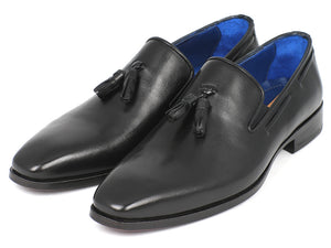 Paul Parkman Tassel Loafer Black Leather - TieThis Neckwear and Accessories and TieThis.com