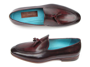 Paul Parkman Tassel Loafer Black & Purple - TieThis Neckwear and Accessories and TieThis.com