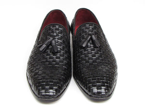 Paul Parkman Woven Leather Tassel Loafer - TieThis Neckwear and Accessories and TieThis.com